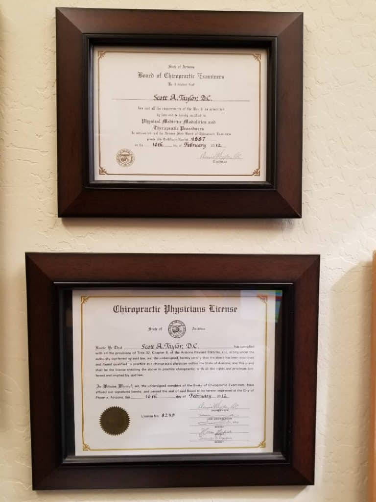 Dr Scott Taylor Certifications