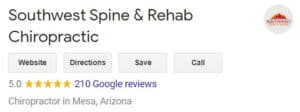 southwest spine and rehab chiropractic reviews screenshot
